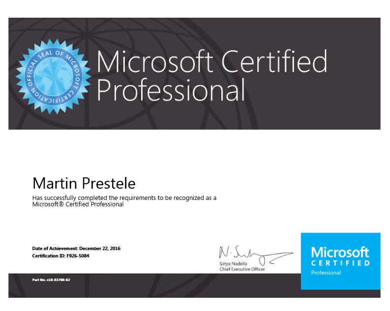 Projekte Und Zertifizierungen Von Martin Prestele